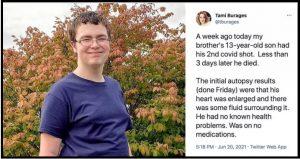 13 year old dies